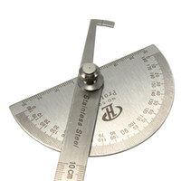 Wholesale New mm Stainless Degree Steel Protractor Angle Finder Arm Rule Measure General Craftsman Machinist Tools Round Head