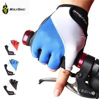 mens sports gloves - Cycling Gloves Mens Women s Summer Sports Wear Bike Bicycle Riding Short Half Finger Non Slip Gel Pad Breathable WOLFBIKE