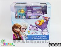 baby furniture - 2015 new baby Frozen Cash register carts suit kids Elsa Anna Pretend Play Furniture Toys children Educational Interactive toys D183