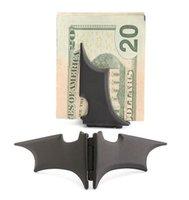 Wholesale Man Stainless Steel Batman quot Batarang quot Money Clip DHL