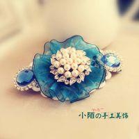 ah hair - Small street hair accessories hairpin Korean popular Korean jewelry diamond hairpin spring clip headdress ah mouth clip contract