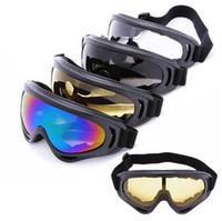 Wholesale Winter Outdoor Sports Black frame coloured lens Adult Snowmobile Snowboard Skate Ski goggles X400 UV Protective Glasses Eyewear