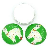 alpaca stud - Glass Cabochons Flatback Alpaca Pattern Round Multicolor mmDia Jewelry Findings
