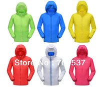 nylon windbreaker jacket - Super lighted Nylon Windbreaker Fashion lovers jacket Sun protection Anti UV Summer Apring small packing jacket PM001