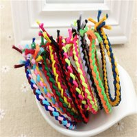 Wholesale New hair accessory jewelry Korean woman hand woven oversees the high elastic rubber band spell color twist CM HAIR PONYTAIL HOLDER