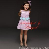 american clothing shops - Pettigirl Retail Summer Newl Girl Dress Cotton Sleeveless Flower Princess Casual Dress Children Clothing Drop Shopping GD41207