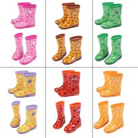 kids rain boots - Baby Kids Cute Animal Rain Boots Children Waterproof Rainshoes Galoshes For Fishing New Arrival