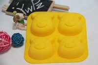 Wholesale hot selling Winnie the Pooh shape Silicone Cake Tools And Ice Mold Cake Decoration Jelly Pudding Manufacture Mould