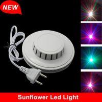 Wholesale 8W V V RGB Auto Color Changing Rotating LEDs Sunflower LED Stage Light DJ Light For KTV