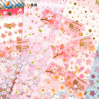 Wholesale DIY Japanese Scrapbooking Paper Romantic Cherry Decoration Seal Stickers For Halloween Party Decoration