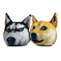 animal seat covers - Retail High Quality New Dog Design Pillow Cover Lovely Pet Dog Creative Design Car Home Seat Cushion Cartoon Animal Pillowcase Cover