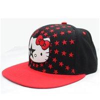 Wholesale Red Cute kids Cap Sport Handmade Hats Snapback hats Top Quality popular Embroidered hip hop Cap Plain Custom Snapback Cap