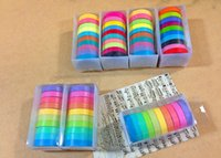 Wholesale Best price set masking tape colorful candy adhesive tape DIY sticker label set
