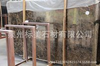 Wholesale BioMax dark Emperador marble stone decorated hotel building material specifications complete processing