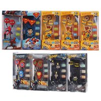 batman headphones - 3 mm in ear Earphone Despicable Me Minion Superman Spider man Iron Man Batman Headset headphone For iPhone SAM LG with retail package