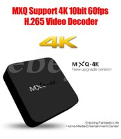 Wholesale MXQ K RK3229 Wifi Android TV Box GB GB Quad Core IPTV Kodi Kitkat WIFI Airplay Miracast TV Box