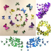 bedroom set sales - Hot Sales Decorative D Butterfly Wall Stickers As a Set Sticker Art DIY Decal Home Room Decor Butterflies TX267