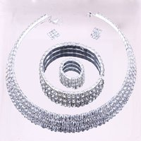Wholesale New design high quality full Rhinestone bridal Zinc Alloy Jewelry Sets noble jewelry wedding accessory