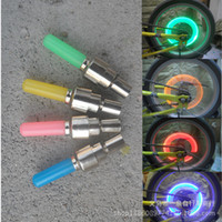 bicycle glow lights - The latest mountain bike valve core gas nozzle lights bicycle lights glow stick US mouth English mouth B016