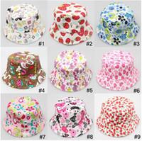 Wholesale 2015 childrens babys bucket hat Photography Hat child Kids Sun Hat Floral CapsTravel Necessity for2 ages Boys Girls Children