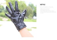 Wholesale Winter New Hot fashion Waterproof windproof Plush gloves brand Men gloves PU leather mittens gloves for men gloves TT003