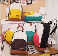Wholesale children bags Fashion women men Canvas Travel Satchel Shoulder Bag Backpack School Rucksack