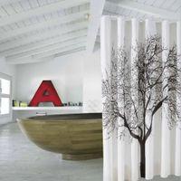 Wholesale 180 CM Waterproof Artistic Tree Design Bathroom Bath Shower Curtain with Hooks