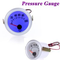 Wholesale Oil Pressure Oil Meter Gauge with Sensor for Auto Car quot mm PSI Blue LED Light