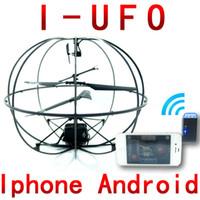 Control remoto iphone España-Juguete teledirigido del juguete del helicóptero del rc de la bola del vuelo de la mosca del UFO del teléfono del envío 777-174