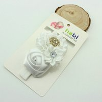 Wholesale Red Rose Flower Baby Hair Bands Girl Headband Hair Accessories Lovely Beauty Infant Hair Jewelry color DHL