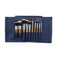 animal fibers - Professional Makeup Brush Make up Tool tools Brushes Set Animal hair Persian wool fibers with Denim Fabric Pouch