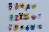 Wholesale 100pcs Cheap loveable multiple cartoon animals Mini animal toy Capsule toys1 cm Gift for children Collectable hot sale action figure