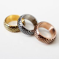 Joyería fina de las mujeres El anillo de acero inoxidable sólido del anillo del anillo del acero inoxidable 316L de la alta señora pulida de los hombres para los hombres La joyería de los hombres
