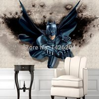 Wholesale 3D Batman wallpaper mural background wall decoration materials large murals for kids room