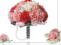 Cheap 2015 Handmade Luxury Wedding Bouquets European Style Bridal Bouquets Wedding Accessories Married Rose Flower