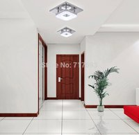 Wholesale ceiling lighting w Led Acrylic Flush Mount Modern Acrylic Stainless Steel Dining Room Bedroom Living Room Entry lights
