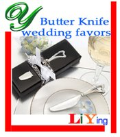 Wholesale heart shape butter fork wedding favors butter spatula jam cheese spreader knife dinner fork cm PVC box table decoration wedding gifts