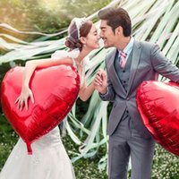 Wholesale 10 Hot Sale Solid Colors Heart Shape Wedding Birthday Party Christmas Decor Supply Helium Foil Balloons