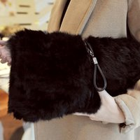 aaa quality handbags - Lady Women Plush Handbag Autumn Winter Handbag Zipper Shoulder Bag Purse Totes LY R03 AAA Quality