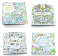 Wholesale Adult Coloring Books Designs Secret Garden Animal Kingdom Fantasy Dream and Enchanted Forest Kids Adult Painting Colouring Books pages