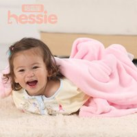 Wholesale Hessie Spring Autumn Newborn Baby Blanket Swaddling Super Soft Flannel CM Baby Bedding Quilt Solid Baby Care Product