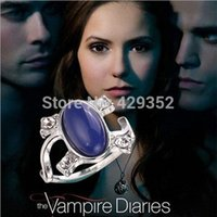 Wholesale New Design The Vampire Diaries Elena Same Design Crystal Cat Eye s Stone Ring Restone Ring For Women Size
