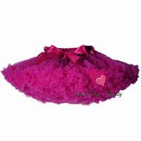 Wholesale Pettiskirt with Ruffle baby Tutu skirt one piece retail girl skirt Baby Girl ball gown girls tutu ballet skirt