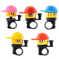 Wholesale 2015 Hot Cute Cartoo Fashion Bike Bicycle Cycling Hat Ring Alarm Metal Handlebar Bell Cap Horn Bicycle Bell