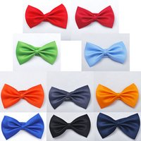 Wholesale New Set of Different Colors Kids Pets Silk Bow Tie One Size Xmas Birthday Gifts Cosplay Wear
