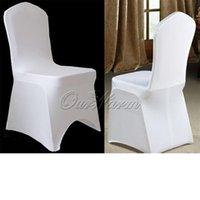 Wholesale New Style Lycra Spandex Chair Cover for Wedding Banquet Party Decoration Products Supply White Beige Black