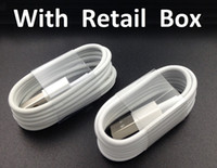Wholesale 1M Ft Micro V8 Sync Data USB Cable Charging Cord Charger Wire Line with retail box for Samsung Galaxy S4 S6 Edge S7 Note LG HTC Phone