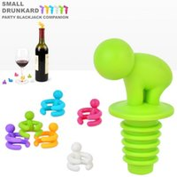 Wholesale 2015 NEW Psc Set Wine Bottle Stopper and Wine Glass Markers silicone material party supply party favors colors