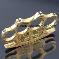 Wholesale GOLD Hell detective Constantine Brass Knuckle dusters Gold Self defense Equipment