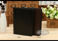 leather notebook with calculator - fashion A5 leather spiral notebook planner notepad business travel office organizer with zipper ring binder calculator A